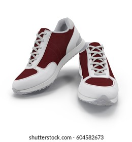 sneakers isolated on white. 3D illustration