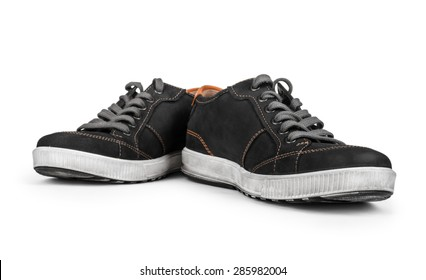 Sneakers isolated on white background shadow below.