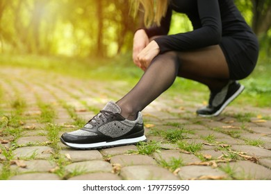 Pantyhose Sneakers Images Stock Photos Vectors Shutterstock
