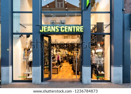 SNEEK NETHERLANDS NOVEMBER 2 2018 Jeans Stock Photo (Edit