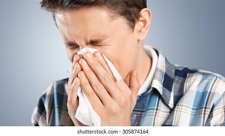 Sneezing.