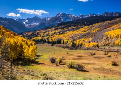 Sneffels Range near Ridgway, Colorado during an Autumn afternoon