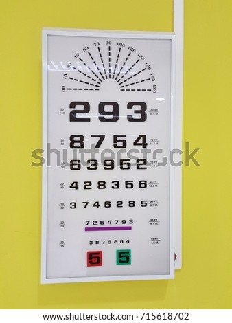 Snellen Chart Eyes Test Chart On Yellow Stock Photo Edit Now