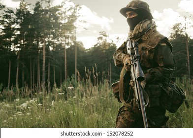 Sniper change position. Preparations for the attack.
