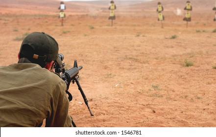 Sniper at militery training.