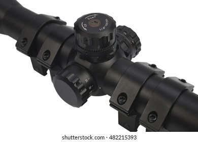 sniper scope isolated on white