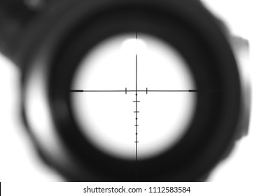 Sniper scope rifle isolate on white background