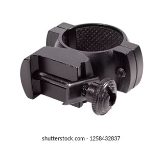Sniper scope ring that is isolated on a black background