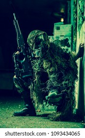 Sniper woman paintball