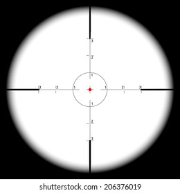 Sniper's scope sight view