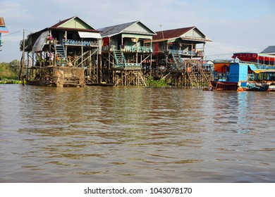 A snip-it of the floating village at Tonle Sap. These homes are built high above the water as the water level is very unpredictable and is constantly going out to sea and coming back to the river.