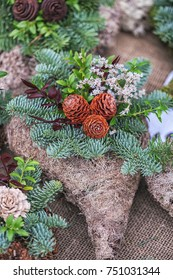 Snitch and wreaths from flowers, All Saints Day concept