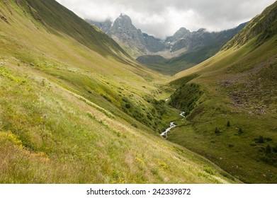 Sno valley in Caucasus mountains, Georgia.