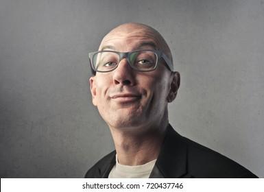 Snob man wearing glasses