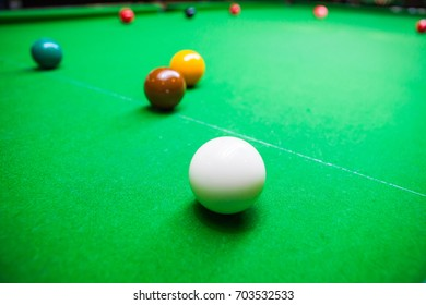 Snooker ball in action