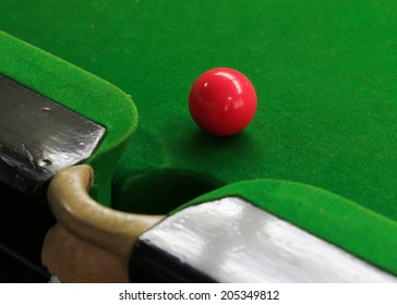 snooker balls on green snooker table, sport game background