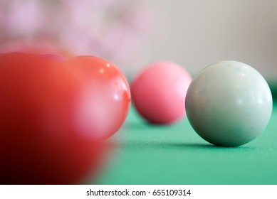 Snooker player is playing,Snooker for goal to the success concept,This photo have a copy space for using.