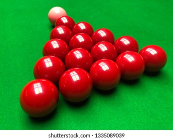 Snooker, red, billiard