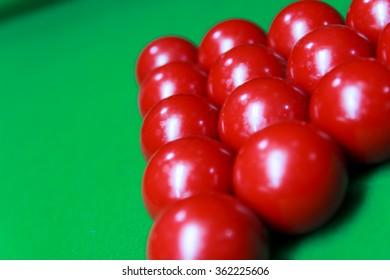 Snooker setup.