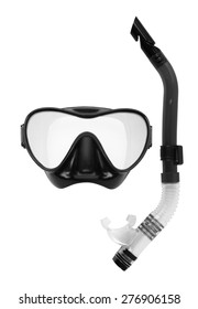 Snorkel and Mask for Diving isolated on white background.
