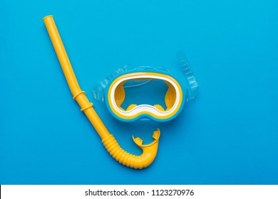 Snorkeling mask equipment on a vibrant background