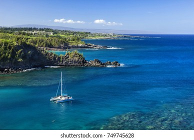 Snorking is one of Maui, Hawaii's biggest attractions. The image was taken around a secluded cove North of Kapalua, Hawaii.