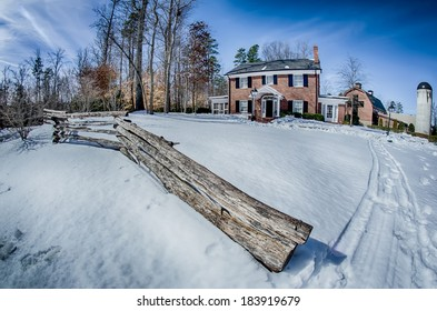 snow around billy graham library after winter storm