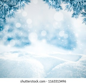 snow background and christmas time