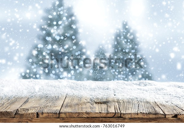 Snow For Christmas.Snow Background Christmas Time Stock Photo Edit Now 763016749