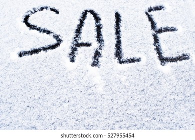snow background, sale