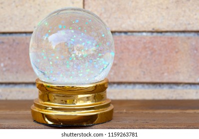 SNOW BALL WITH GLITTER - WALL BACKGROUND
