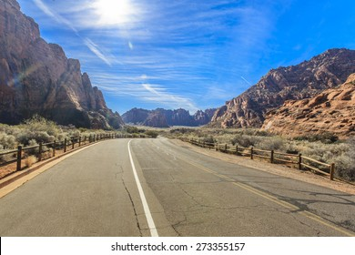 Snow Canyon State Park is a state park of Utah, USA, featuring a canyon carved from the red and white Navajo sandstone in the Red Mountains.