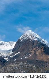 Snow capped Alaska mountain