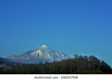 snow capped mount Teide. tenerife