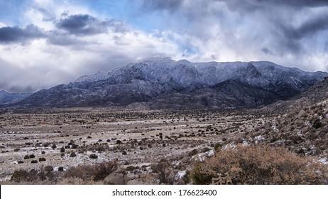 Snow Capped Sandia Mountains