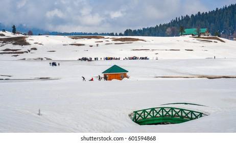 Snow clad landscape in Kashmir