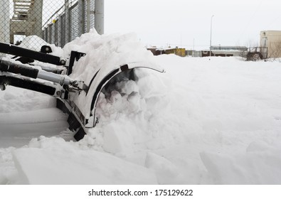 snow cleaning after a blizzard