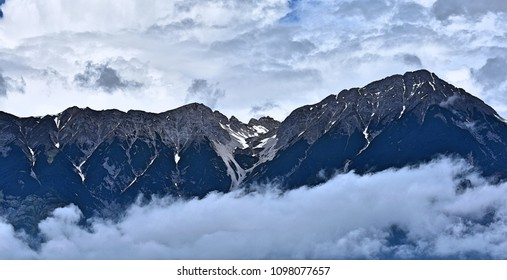 Snow and clouds in The Alps