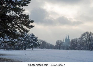 Snow in Cologne, Germany
