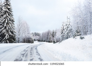 snow country road