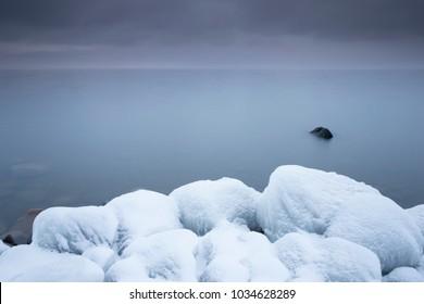 Snow cover stones