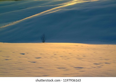 Snow covered Asiago plateau, Italy