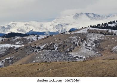 Snow Covered Colorado Mountain