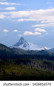 Snow Covered Dormant Oregon Volcano