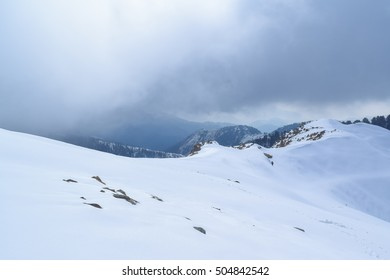 Snow covered landscape in Dalhousie Himachal Pradesh