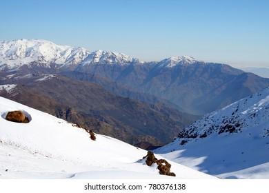 Snow covered landscape, Santiago, Chile