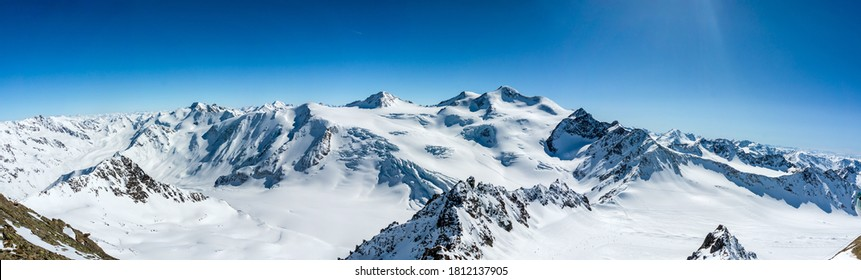 Snow covered mountain peak winter panorama landscape - Shutterstock ID 1812137905