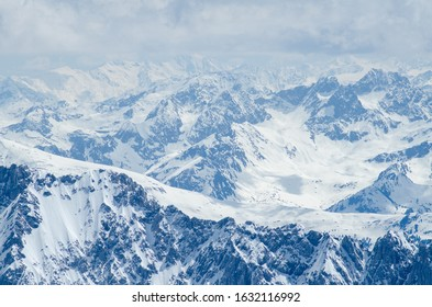snow covered peaks in the alps
