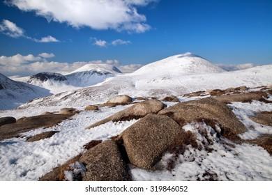 A snow covered Slieve Donard