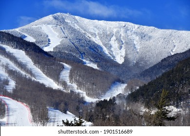 Snow covered Whiteface Mountain ski area in the Adirondack Mountains, New York - Shutterstock ID 1901516689